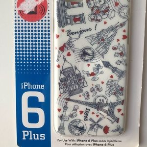 Nib iPhone 6 Plus Disney Land Paris case sealed